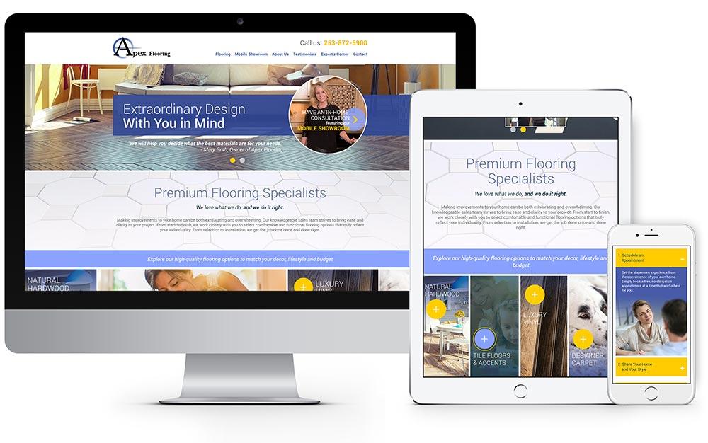 Apex Flooring website design