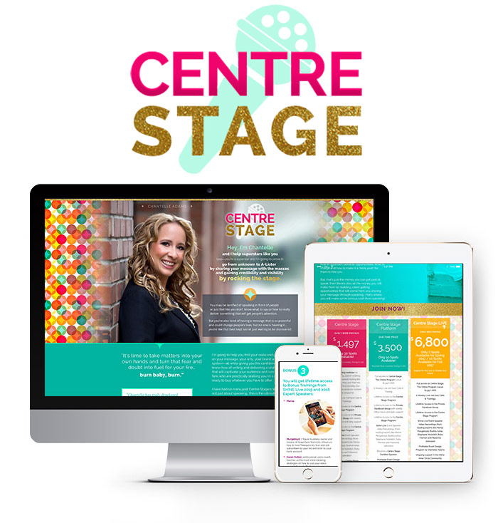 joincentrestage.com website design