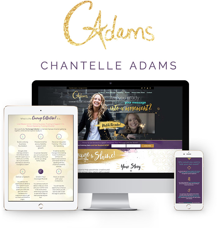 chantelleadams.com website design