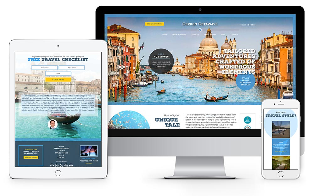 Gerken Getaways website design