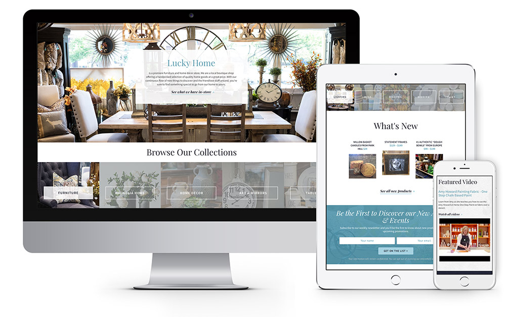 Lucky Home website design