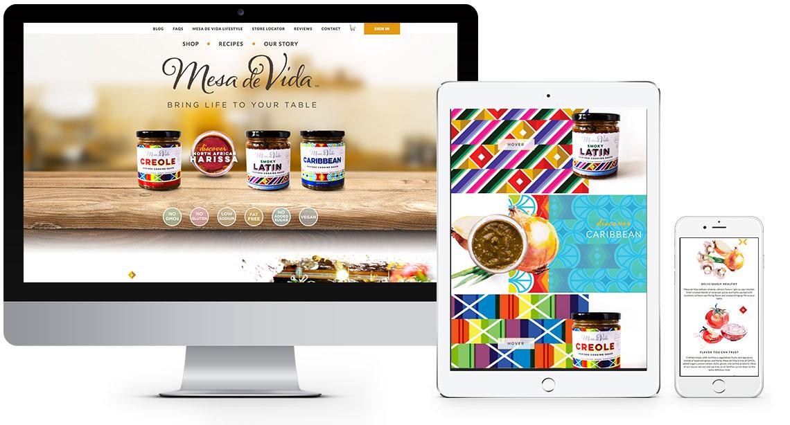 Mesa de Vida responsive website