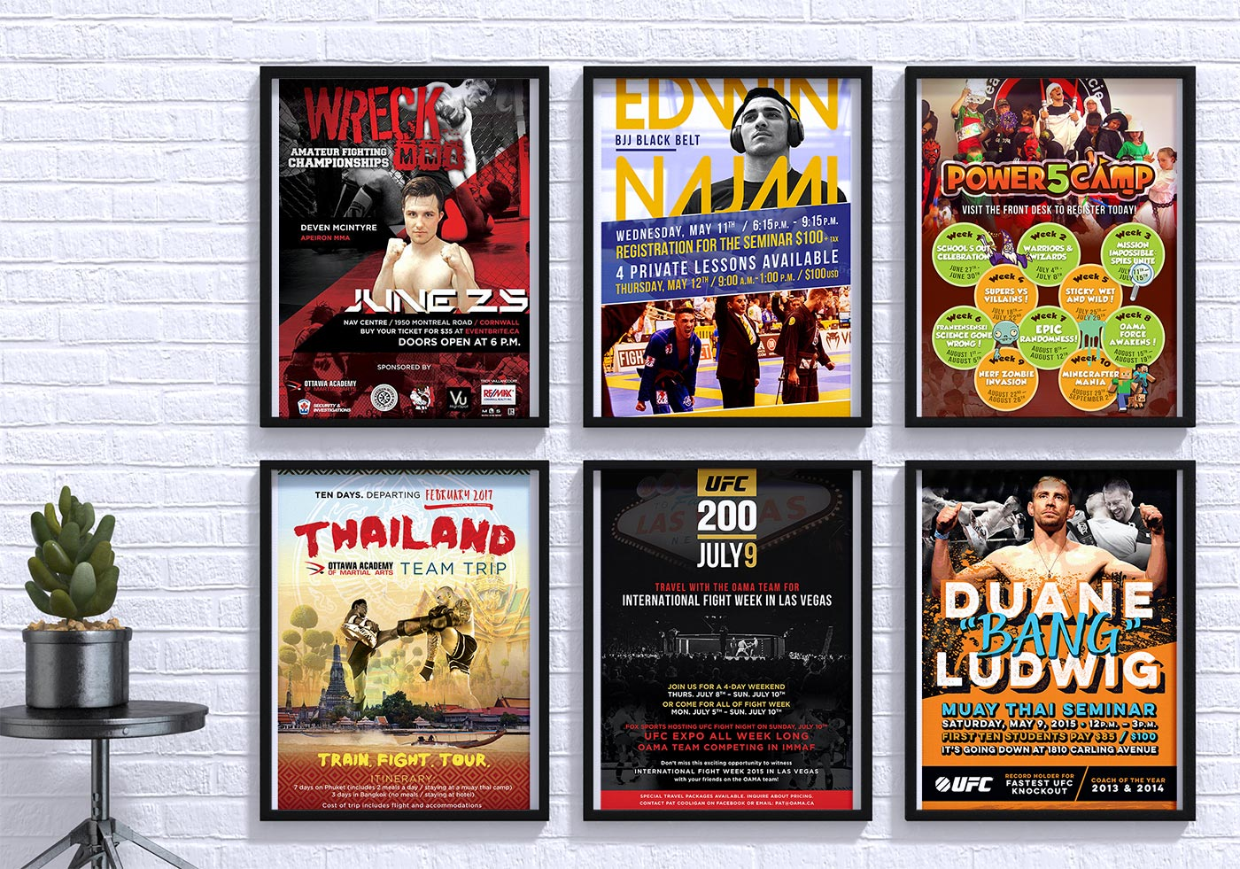 OAMA Ottawa Academy of Martial Arts poster design