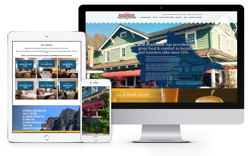 The Roadhouse Restaurant & Inn website design