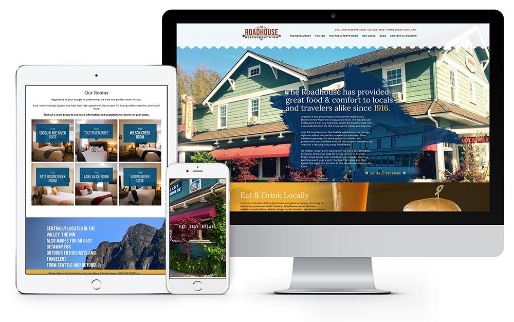The Roadhouse Restaurant & Inn website design