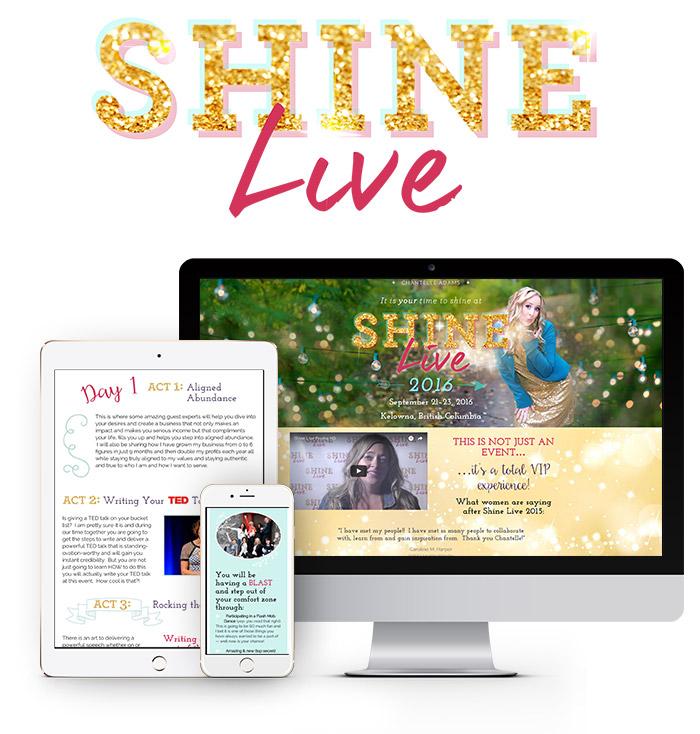 SHINE Live website design