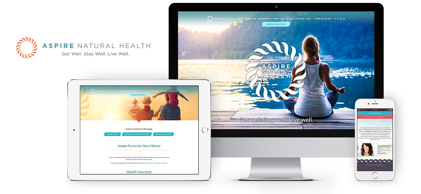 Aspire Natural Health Responsive Website