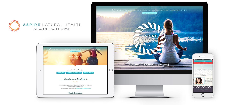 Aspire Natural Health Responsive Website