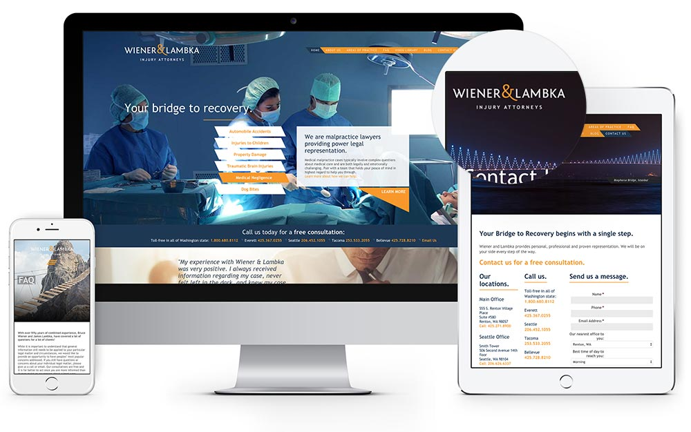 Wiener & Lambka website design