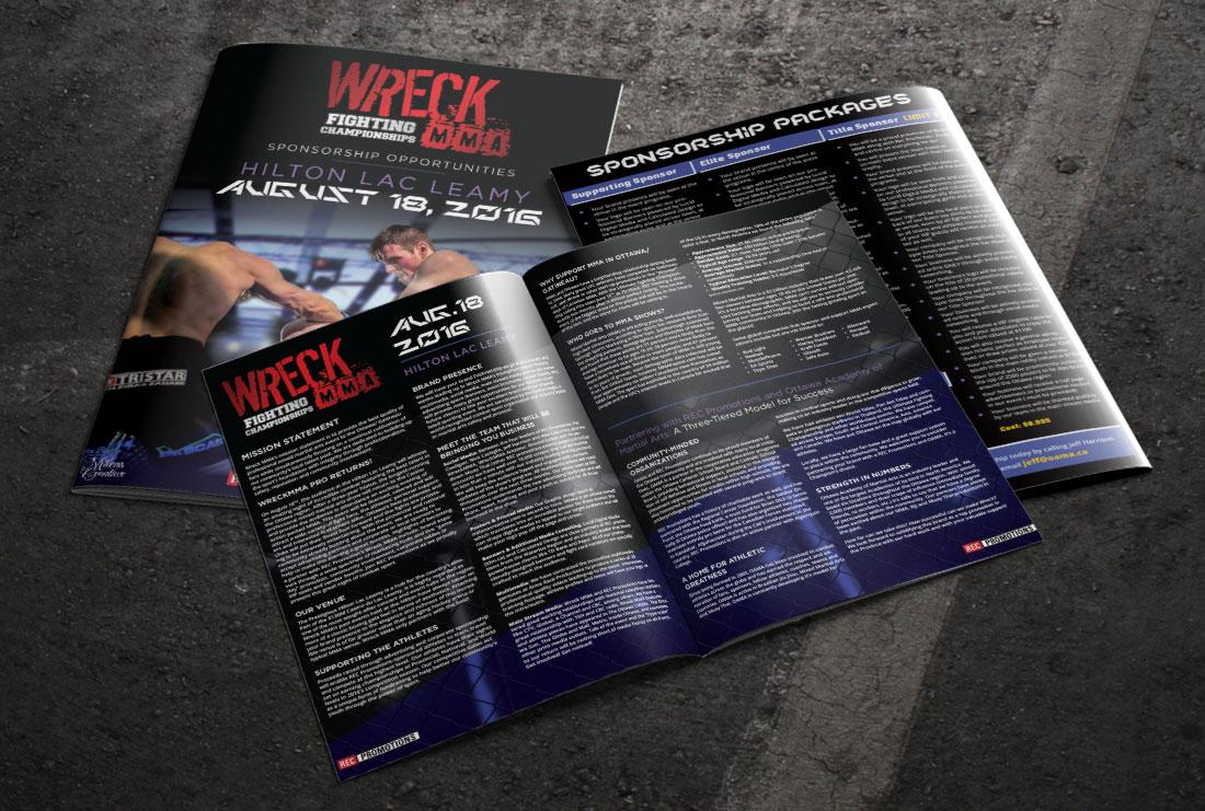 Wreck MMA Pro sponsorship brochure