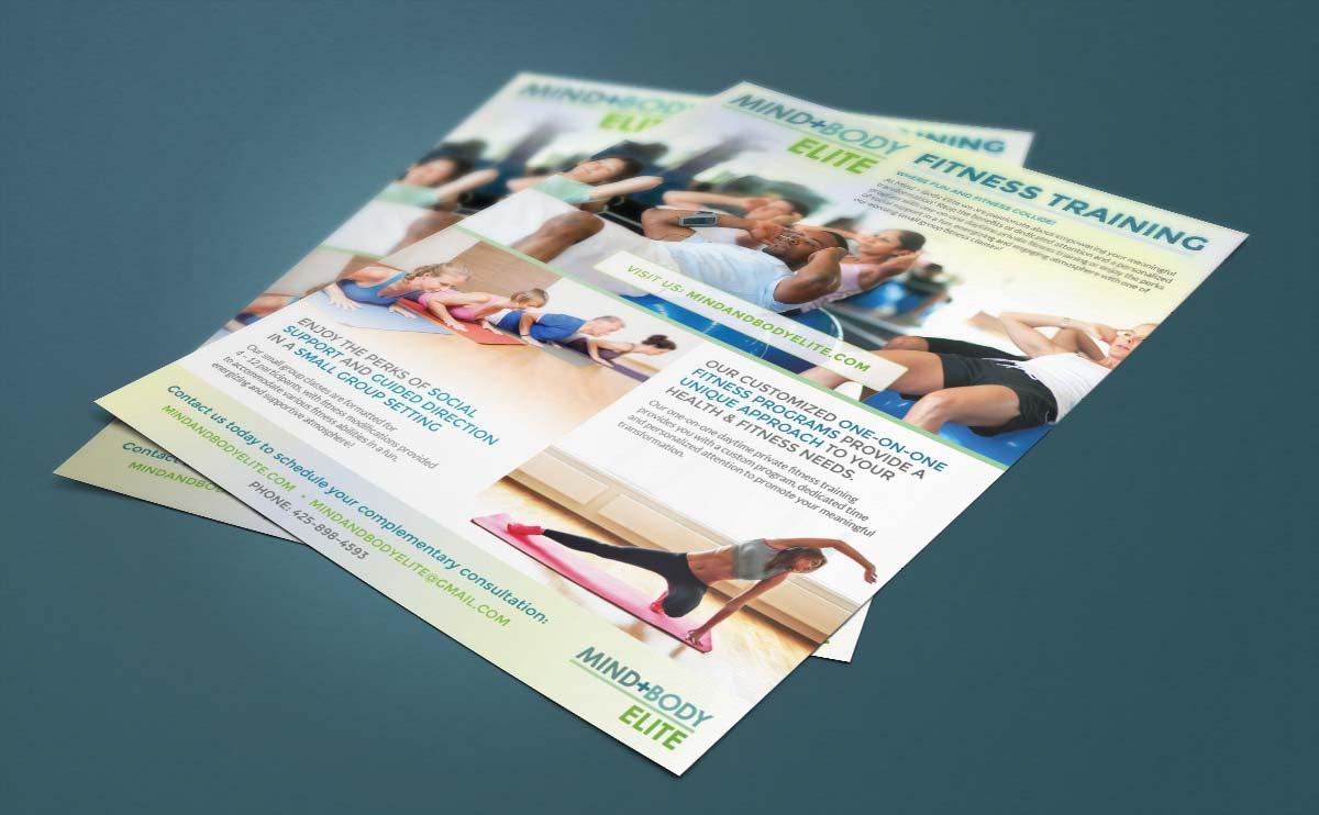 Mind+Body Elite print flyer design