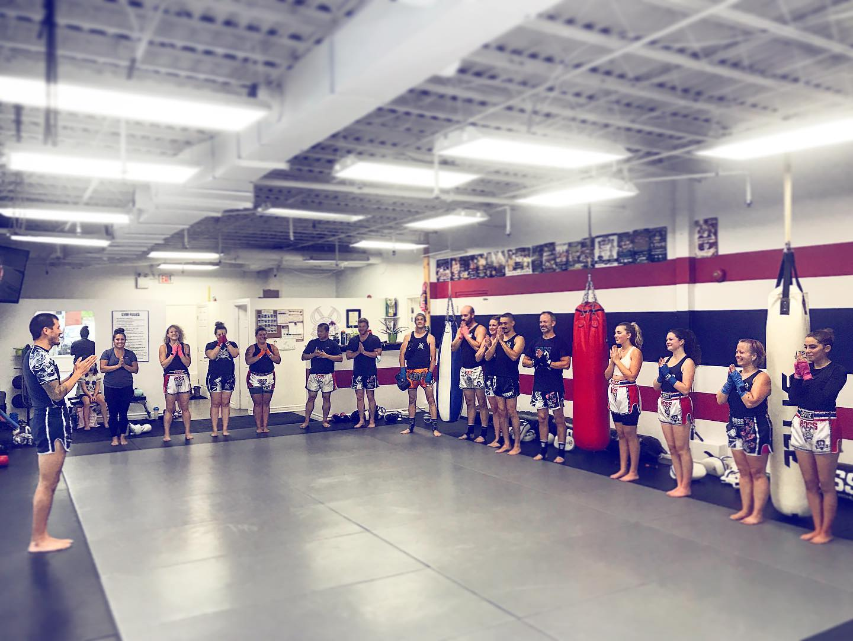 After renovations, a full Boss Muay Thai class