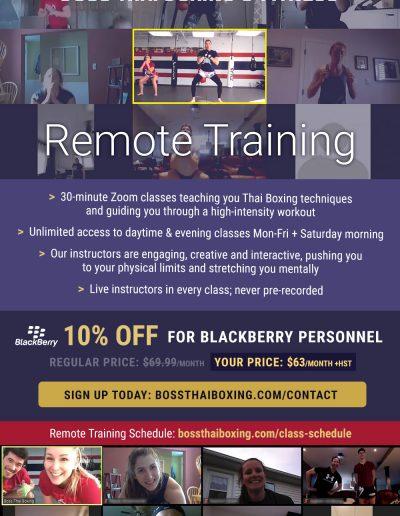 Remote training promo flyer