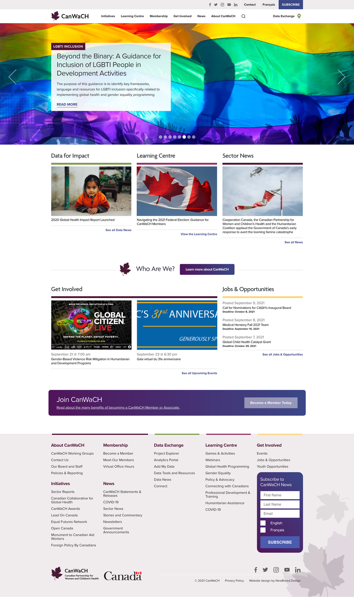 CanWaCH.ca Home page