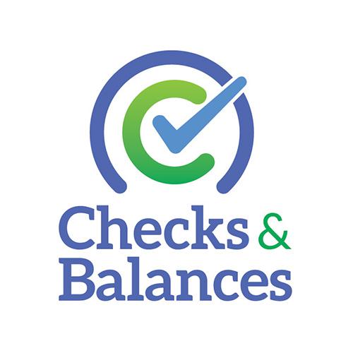 Checks and Balances logo design