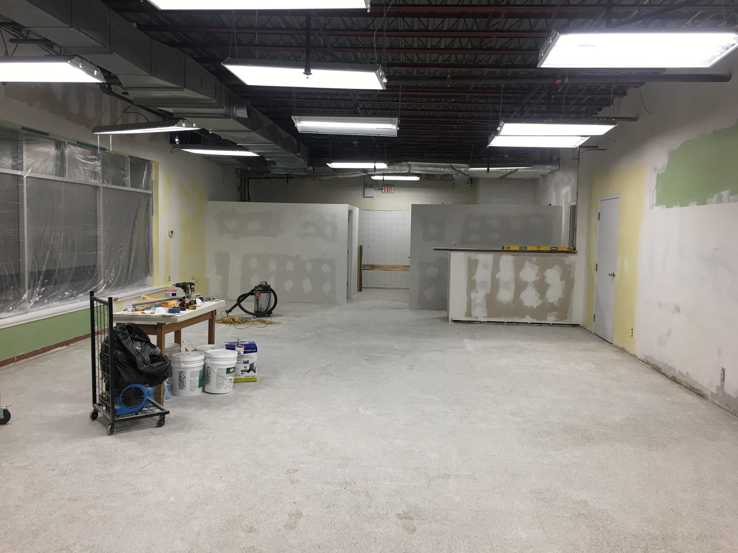 Before the opening of Boss, during renovations