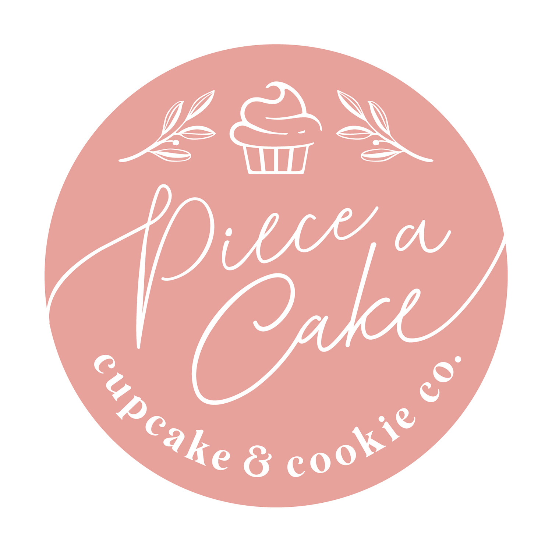 Piece a Cake Cupcake & Cookie Co. logo design