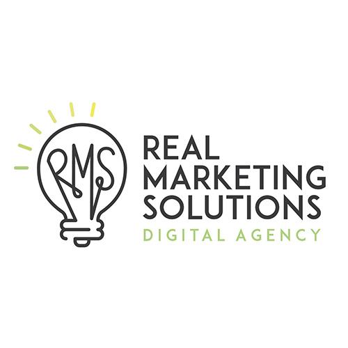 Real Marketing Solutions Digital Agency logo design